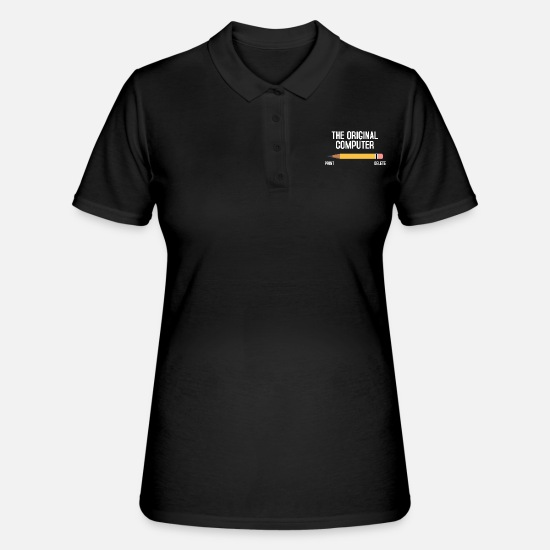 Computer Polo Shirts - computer - Women's Polo Shirt black