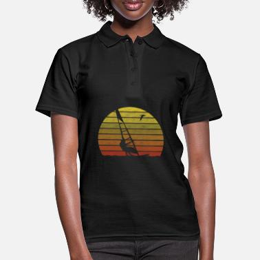 Windsurfer retro sunset surfing - Women's Polo Shirt
