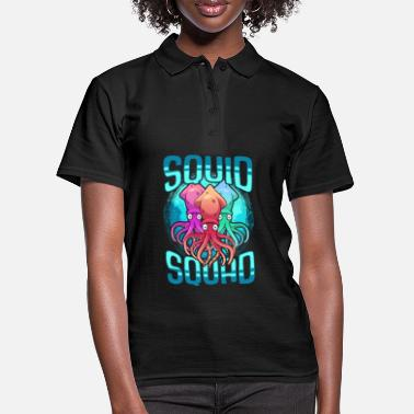 Squid squid sea animal ocean octopus - Women's Polo Shirt