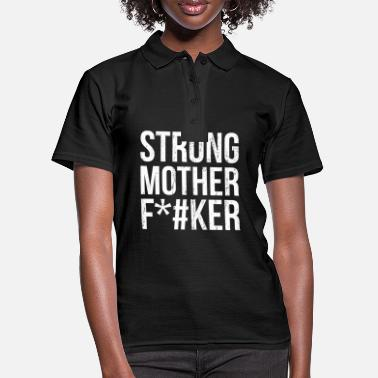 Helmet Strong Mother F * cker Fitness gym workout gift - Women's Polo Shirt