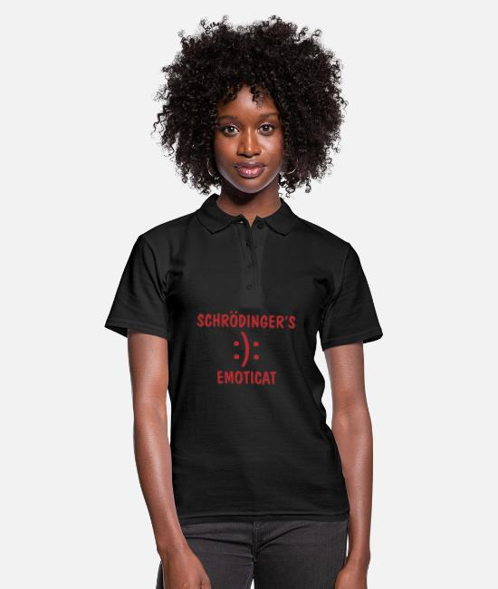 Coder Polo Shirts - Schrödinger IT saying gift - Women's Polo Shirt black