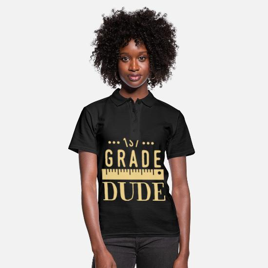 Gift Idea Polo Shirts - 1st grade dude 1st grade school gift student - Women's Polo Shirt black