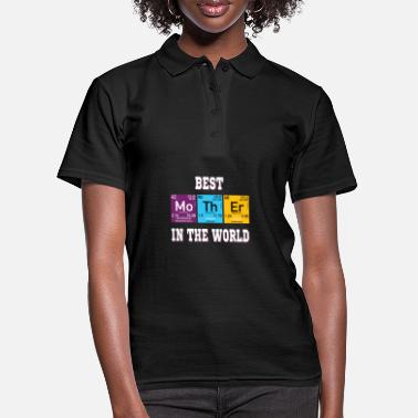 Nerd Best Mother funny elements - Women's Polo Shirt