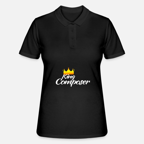Gift Idea Polo Shirts - Composer hobby sport leisure gift - Women's Polo Shirt black