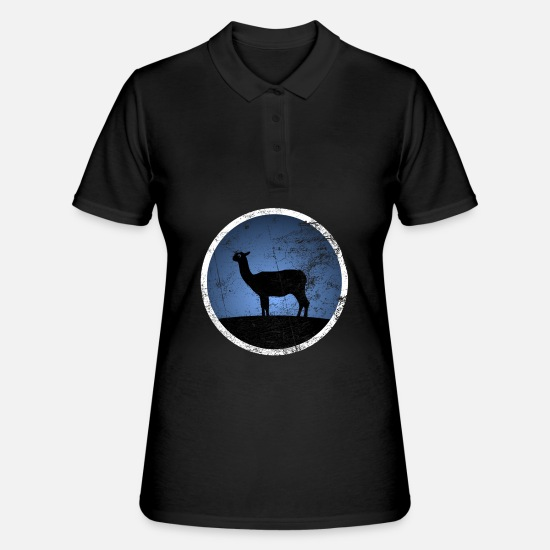 South America Polo Shirts - Alpaca Llama camel - Women's Polo Shirt black