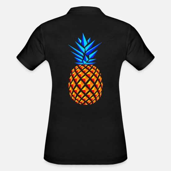 Pineapple Polo Shirts - TREND PINEAPPLES - Women's Polo Shirt black