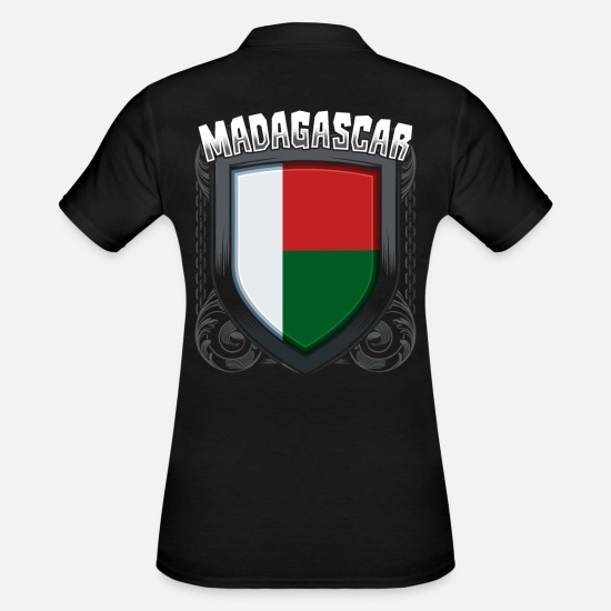 National Colours Polo Shirts - Madagascar - Women's Polo Shirt black