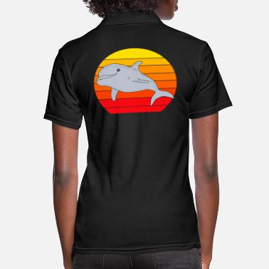 Dolphin sunset - Women's Polo Shirt