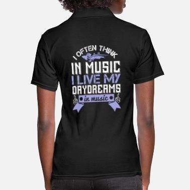 Music Violin - I live my daydreams in music - Women's Polo Shirt