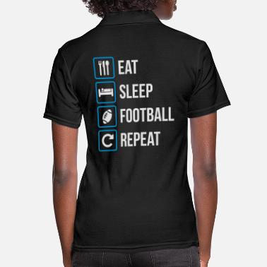 Sibosssr Eat Sleep American Football Repeat - Women's Polo Shirt