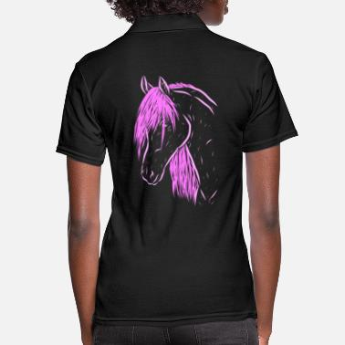 Western Riding horse - Women's Polo Shirt
