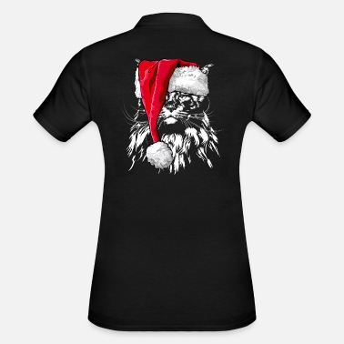 MAINE COON Christmas Beanie Wilsign's Cat Cats - Women's Polo Shirt