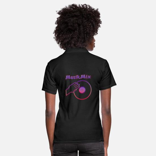 Birthday Polo Shirts - Music mix - Women's Polo Shirt black
