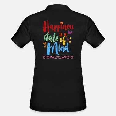 Open Air Happiness is a state of mind colorful sayings motif - Women's Polo Shirt