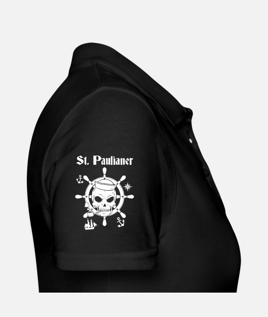 Harbour Polo Shirts - St. Paulian skull Hamburg - Women's Polo Shirt black