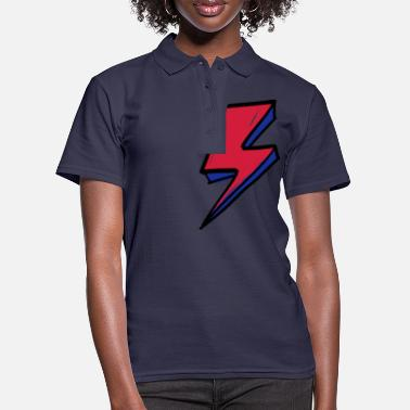 David Bowie fulmine 1 - Polo donna