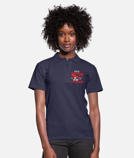 Ollie Polo Shirts - Skater skateboard - Women's Polo Shirt navy
