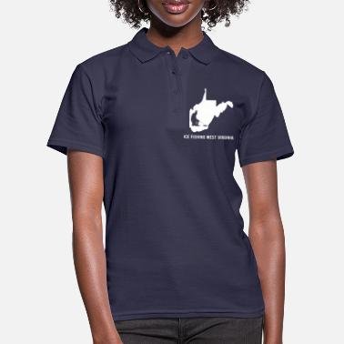 Winter Eisangeln West Virginia - Frauen Poloshirt