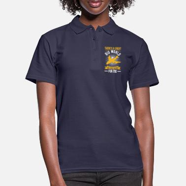 Airplane There sa great big world out there waiting for me - Women's Polo Shirt