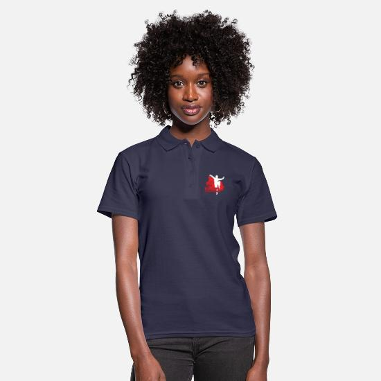 Shaolin Polo Shirts - Qi Gong Chinese Funny Martial Arts Gift - Women's Polo Shirt navy