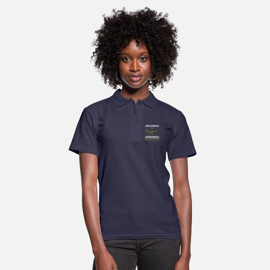 Idée Polos - Science Physics Scientist Geometry Gift Velocity - Polo Femme bleu marine