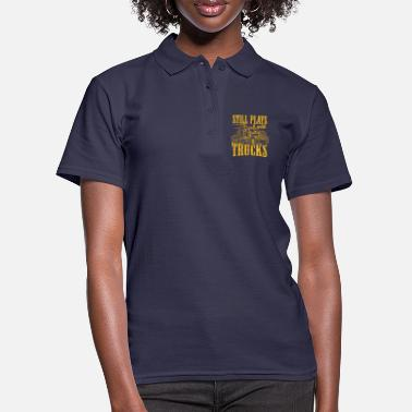 Courier Still Plays With Trucks Truck Driver Cool Driver - Women's Polo Shirt