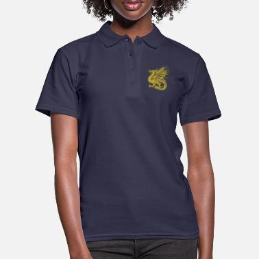 Golden Dragon Golden dragon dragon fairy tale fantasy gift - Women's Polo Shirt