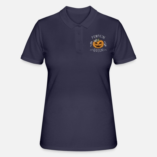 Halloween Polo Shirts - Halloween pumpkin gift costume crown funny - Women's Polo Shirt navy