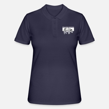 Serengeti Savannah rhinoceros Serengeti Africa Pachyderms - Women's Polo Shirt