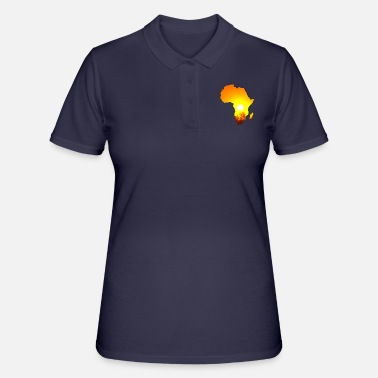 South Africa Africa Steppe Lion Elephant Giraffe Sundown - Women's Polo Shirt