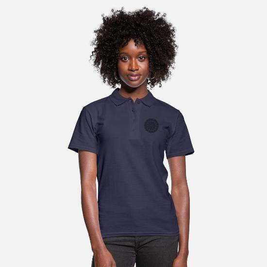Art Polo Shirts - Mandala - Women's Polo Shirt navy