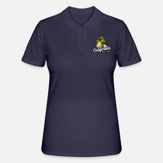 Usa Poloshirts - Kalifornien Usa West Küste - Frauen Poloshirt Navy