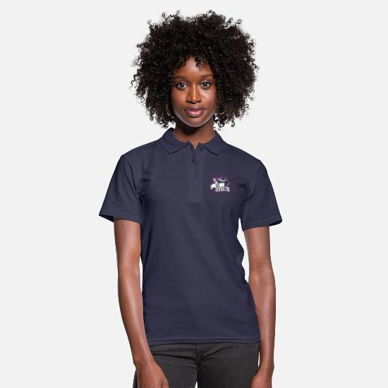 Figure Polo Shirts - Skating figure skating - Women's Polo Shirt navy