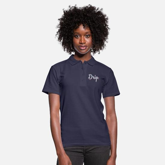 Rap Polo Shirts - Drip lettering with drip effect (IceRot) - Women's Polo Shirt navy