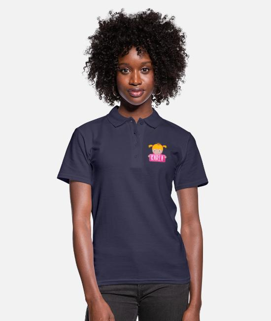 Princess Polo Shirts - Little Princess Karla - Women's Polo Shirt navy