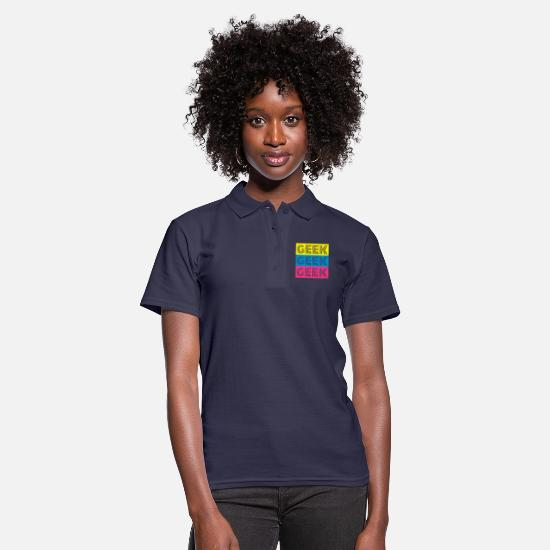 Geek Polo Shirts - geek - Women's Polo Shirt navy