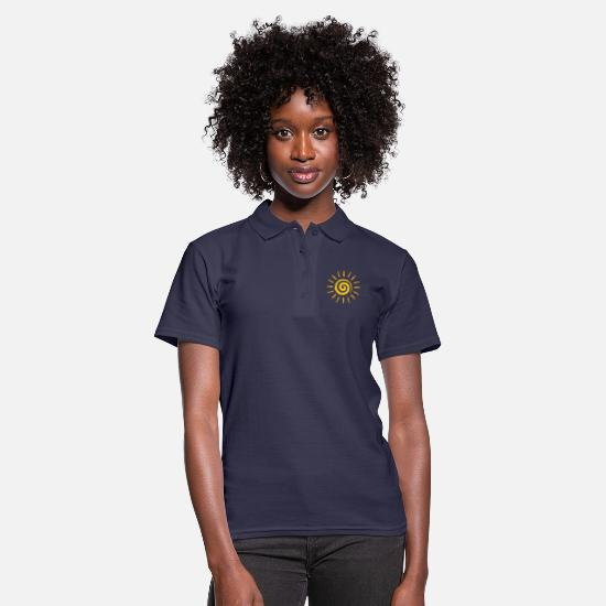Tanning Polo Shirts - Sun - Women's Polo Shirt navy