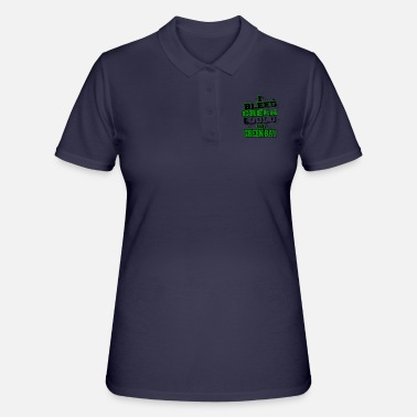 Green And Gold I bleed green and gold - Women's Polo Shirt