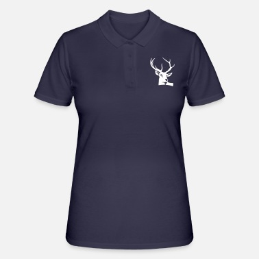 Deer Head And Antlers Of A Deer - Women's Polo Shirt