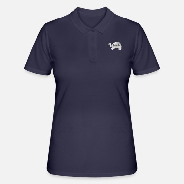 Take It Slow Turtle - Polo Femme