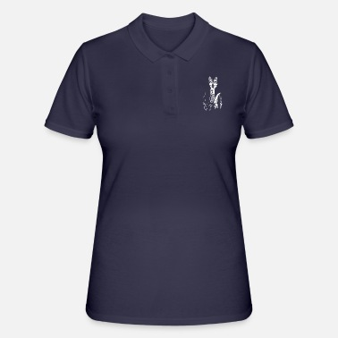 Up The wolf in a suit - suit up - gift tie - Women's Polo Shirt