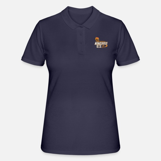 Love Polo Shirts - Mamasaurus Rex Mother's Day Mum Gift - Women's Polo Shirt navy