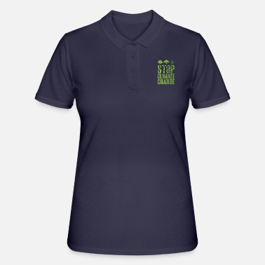 Climate change saying gift CO2 climate global warming - Women's Polo Shirt