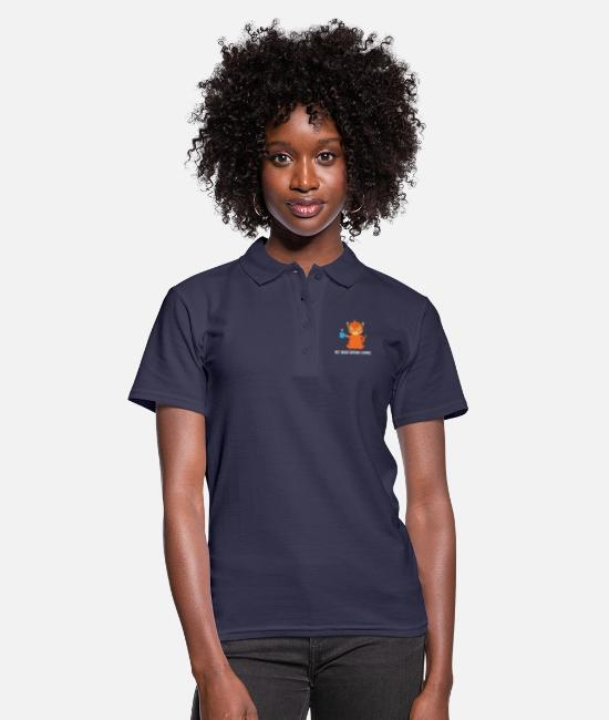 Coffee Polo Shirts - Tiger - Tiger fan - Tiger lover - Coffee - Women's Polo Shirt navy
