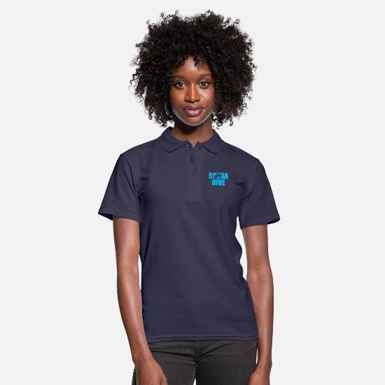 Scuba Polo Shirts - Scuba Dive Scuba Diving - Women's Polo Shirt navy