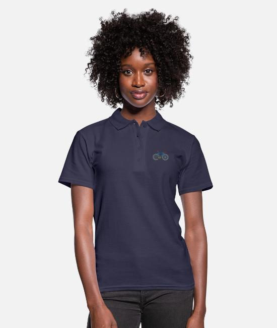 Cycling Polo Shirts - Bicycle anatomy for bike and cycling lovers - Women's Polo Shirt navy