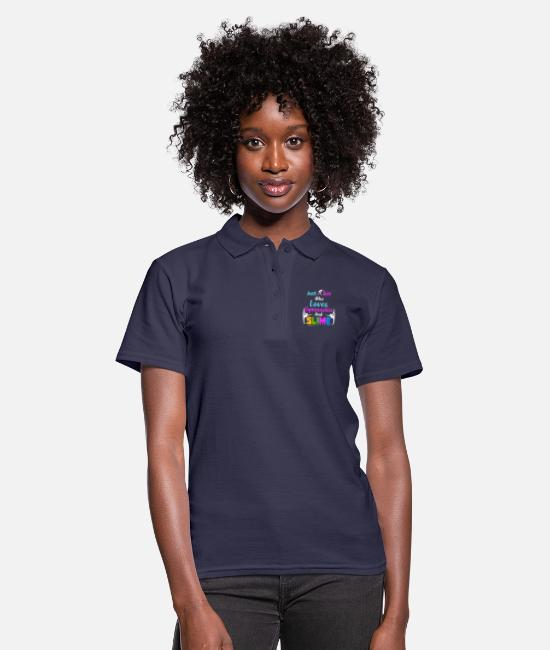 Girls Gymnastics Polo Shirts - Just A Girl Who Loves Gymnastics and Slime, Slime - Women's Polo Shirt navy