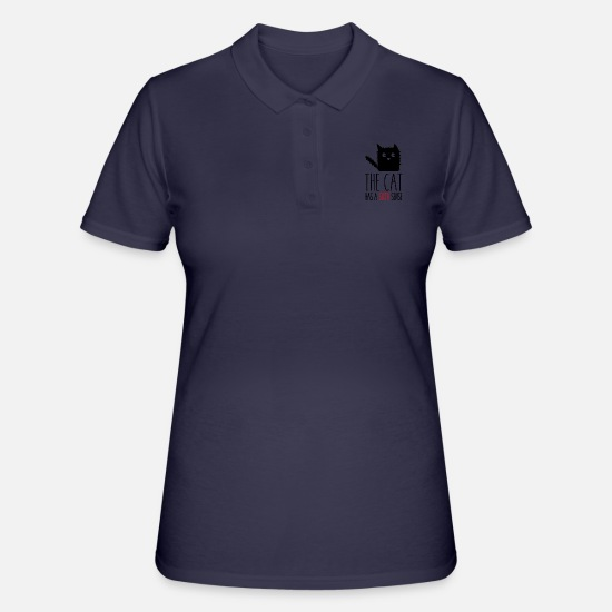 Sensei Polo - The cat has a sixth sense - Polo donna navy