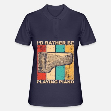 Vintage Pianista de piano retro - Women's Polo Shirt