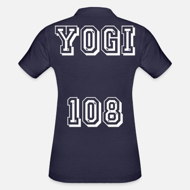 Om Yogi 108 white - Women's Polo Shirt